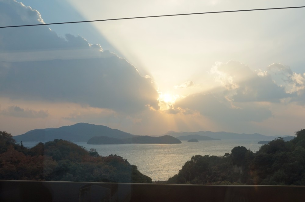 Sunset over the Seto Naikai Inland Sea