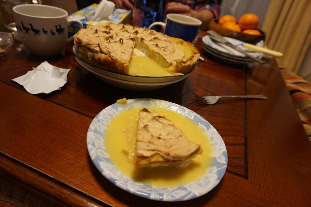 Lemon Meringue Pie Soup with Soymilk