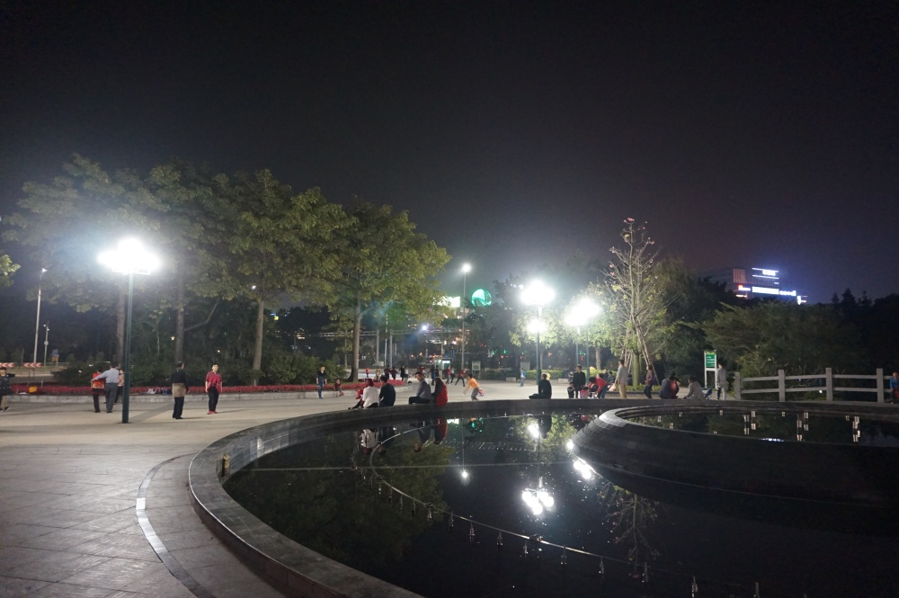 Guangzhou Park at Night