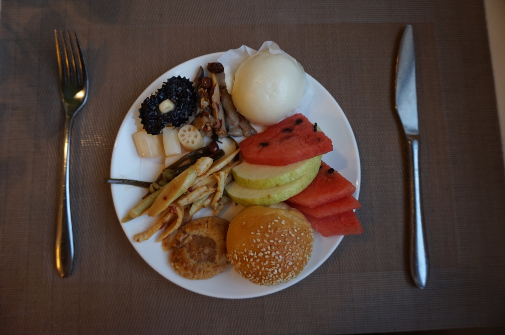 Chinese hotel breakfast