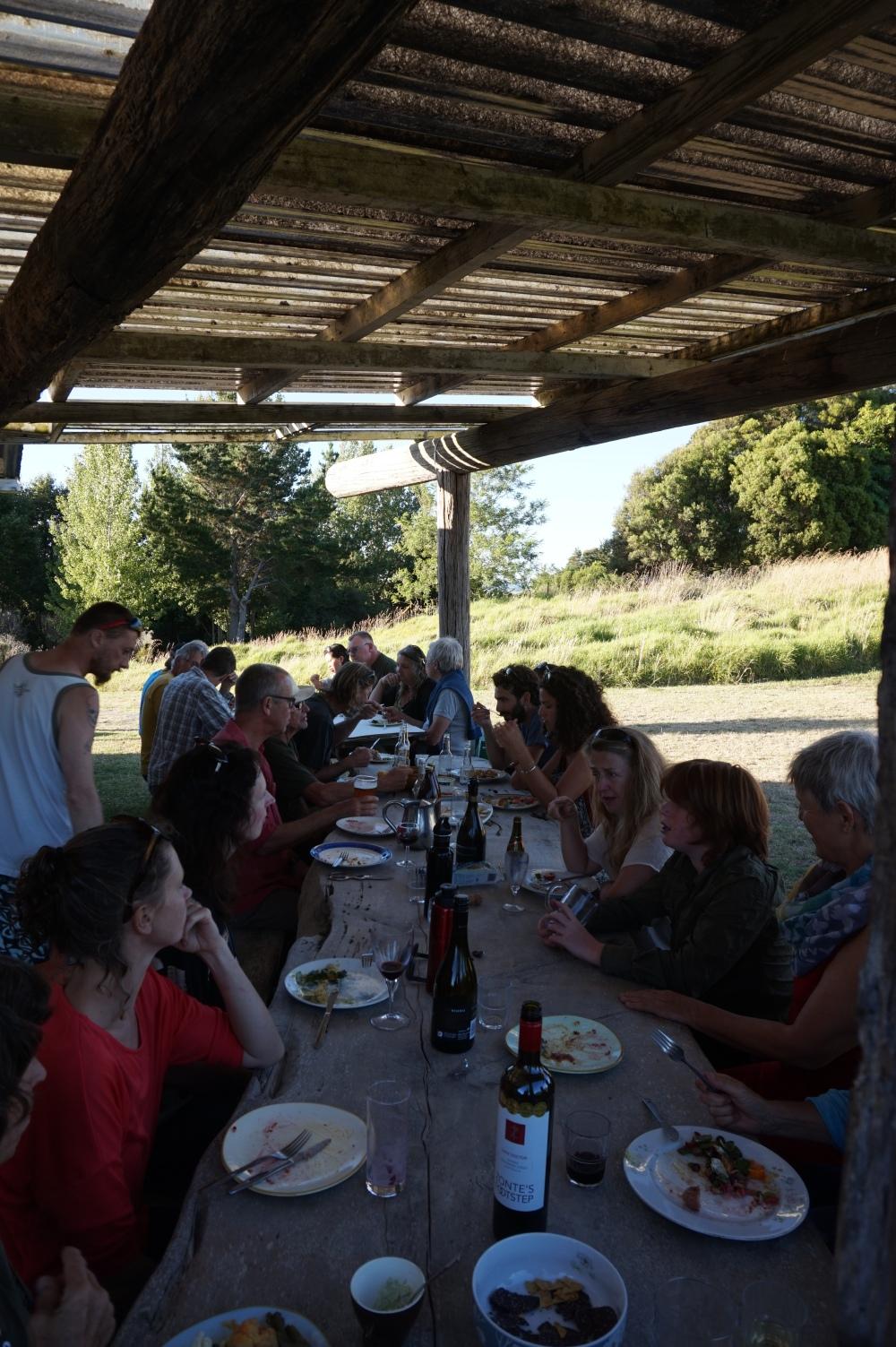 Otamatea Eco Village community dinner potluck