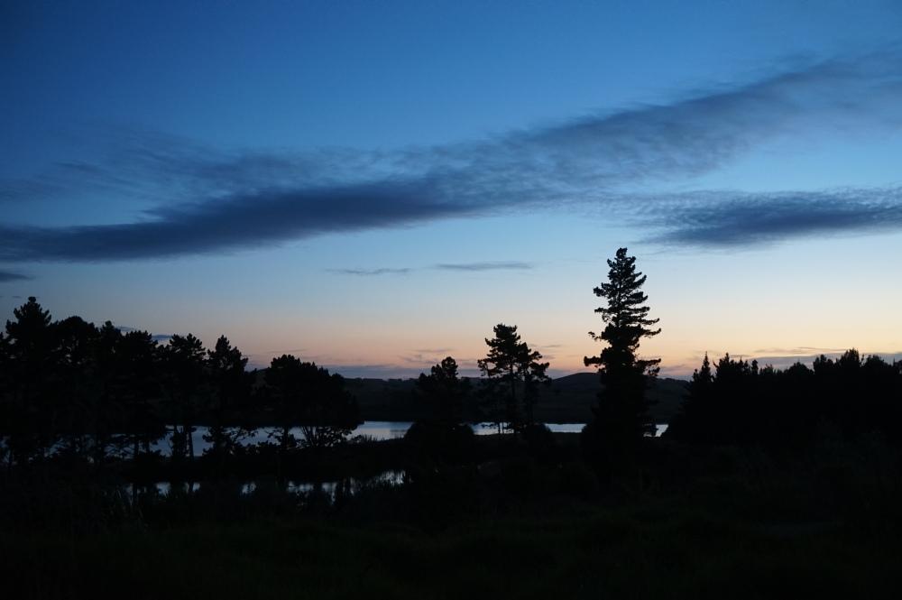 Otamatea Eco Village, New Zealand sunset